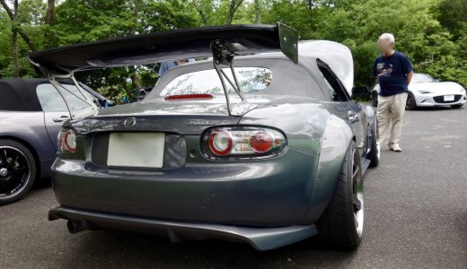 おはくら・ロードスターNC・ロータリー・GTウィング・シルバー・グレー・後方GTウィング