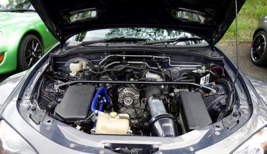 おはくら・ロードスターNC・ロータリー・GTウィング・シルバー・グレー・エンジンルーム