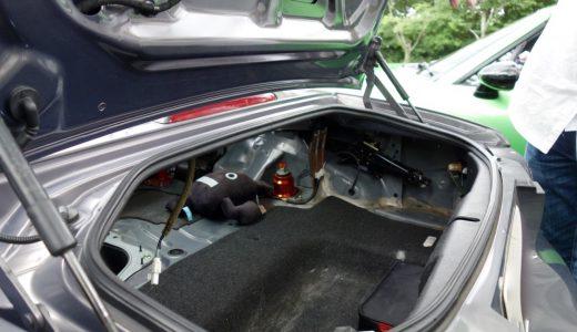 おはくら・ロードスターNC・ロータリー・GTウィング・シルバー・グレー・トランクルーム