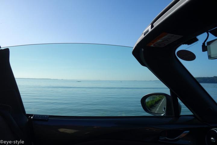 浜名湖おはようツーリング・ロードスターRFの窓から見る風景