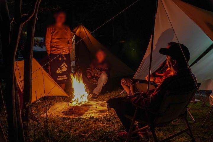 小川の里オートキャンプ場・焚き火