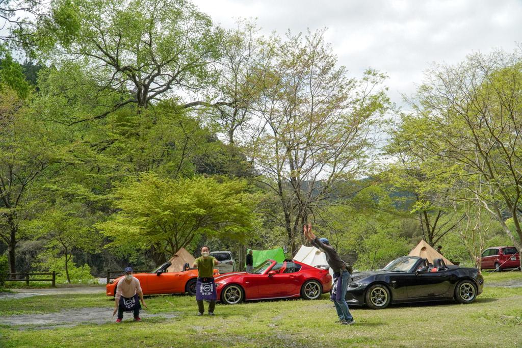小川の里オートキャンプ場・ロードスターと遊ぶ