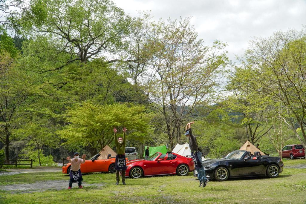 小川の里オートキャンプ場・ロードスターと遊ぶ2